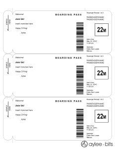 Boarding pass invitation template by AyleeBits.com | Wedding Shower | Ticket template, Free