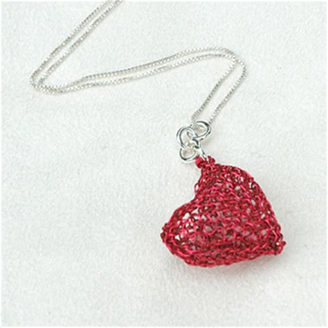crochet pattern for heart necklace ravelry diy wire crochet heart pendant step by step