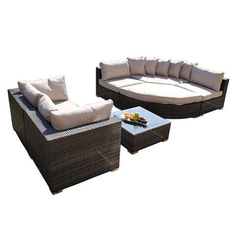 Curved Sofa Set Deluxe Curved Corner Sofa Set In Brown Or Grey By Out There Exteriors Notonthehighstreet