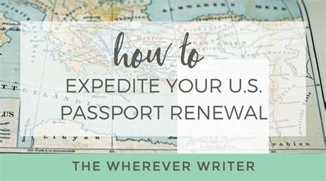 how to get a us passport renewal expedited by mail