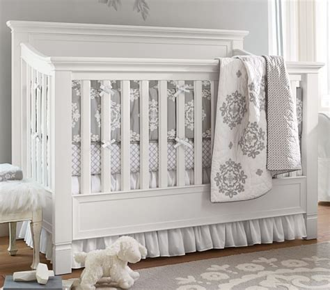 Crib Bedding Pottery Barn Organic Genevieve Nursery Bedding Pottery Barn