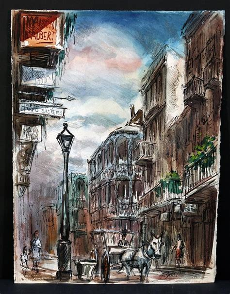 artist new orleans vintage new orleans painting by noted quarter
