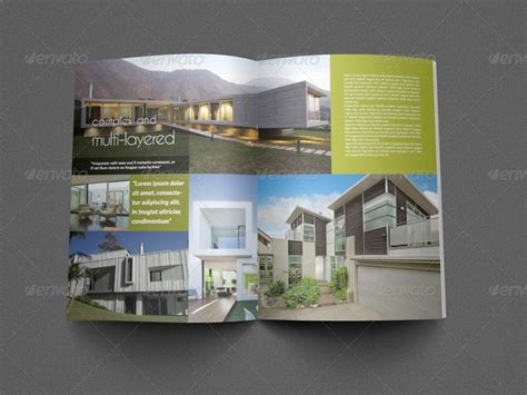 architecture brochure templates architectural brochure template 12 pages by owpictures
