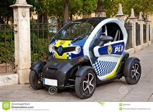 Battery Powered Electric Vehicles Renault Twizy Car In Valencia Spain Editorial