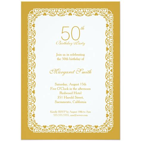 personalized cards template 14 50 birthday invitations designs free sle