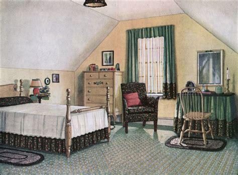 1920s Bedroom by 1924 Blabon Attic Bedroom Vintage Bedroom Inspiration