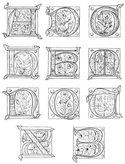 printable illuminated alphabet free coloring pages of illuminated letter j