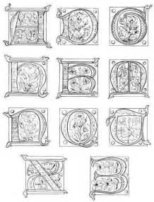 illuminated alphabet templates illuminated manuscript letter coloring page sketch
