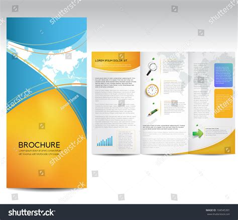stock layout brochure template vector brochure layout design template 104545391