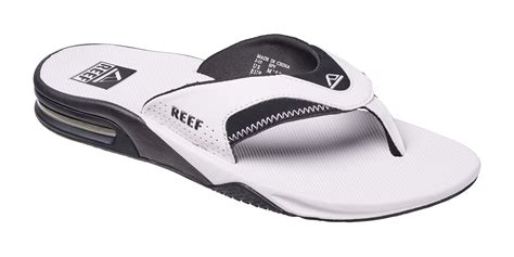 reef fanning mens black reef sandal fanning flip flops mick cushioned