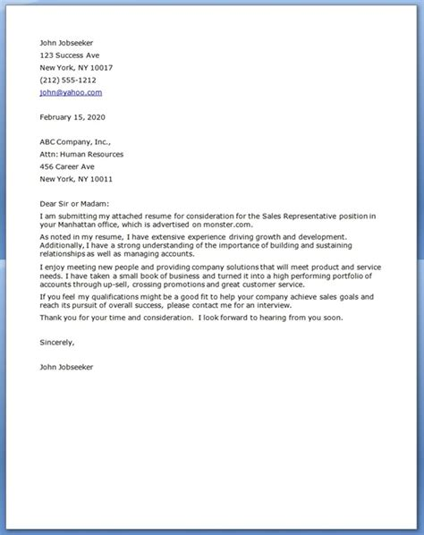 Resume Cover Letter Exles For Sales Position Sales Cover Letter Exles Resume Downloads