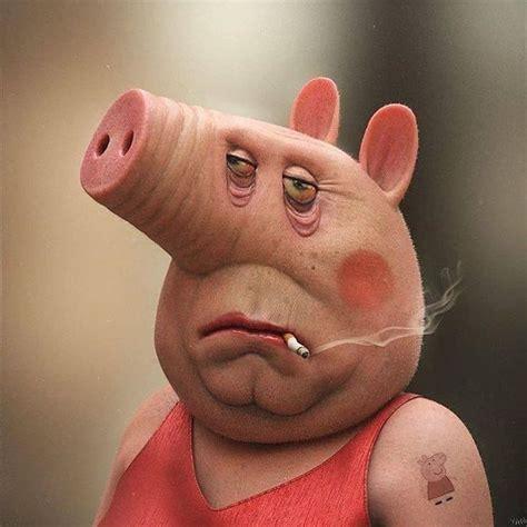real life peppa pig  atyanblancod art