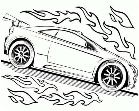cars birthday coloring pages hot wheels track race two car hot wheels coloring page