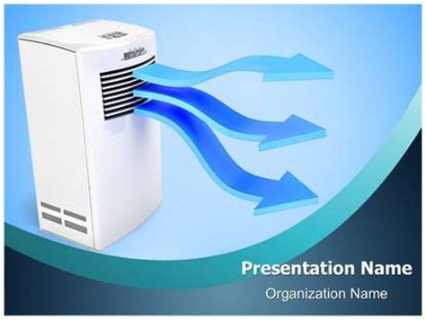 air powerpoint template air conditioner powerpoint template background