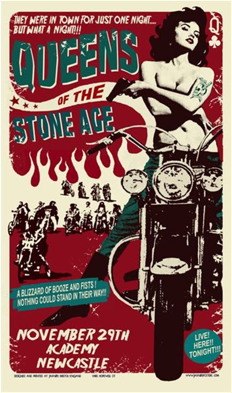 Plakat Queens Of The Stone Age by 283 Best Qotsa Posters Images On Pinterest Band Posters