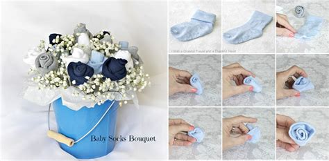 diy sock roses diy baby socks bouquet flower bouquets and showers