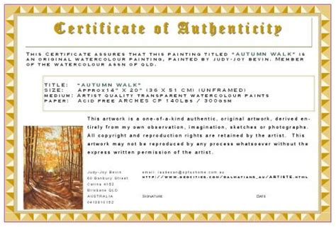 photography certificate of authenticity template etiquette tips how to buy maintain sell as