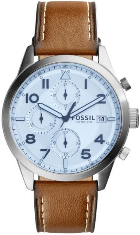 fossil idealist light brown leather watch men s fossil daily chronograph light brown leather strap