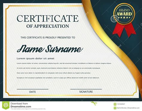 design certificate of appreciation creative certificate of appreciation award template