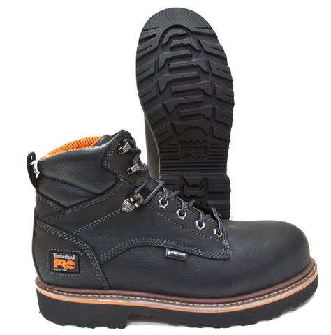 Timberland Pro Leather timberland pro ascender black leather waterproof alloy toe