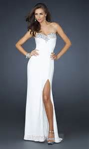 Fabulous white evening dresses