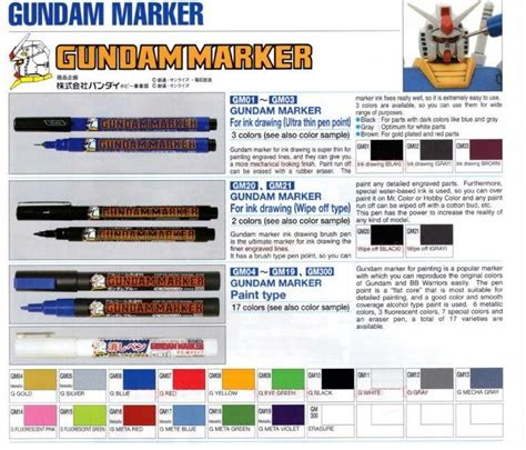 Gundam Gm 10 Marker Black original japan gsi creos mr hobby gu end 6 1 2017 11 37 pm