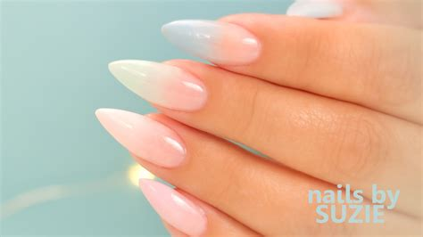 Acrylic Nail by Pastel Color Fade Acrylic Nails Step By Step Tutorial