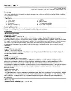 General Merchandise Clerk Sle Resume by General Merchandise Clerk Resume Exle Kroger Chandler Arizona