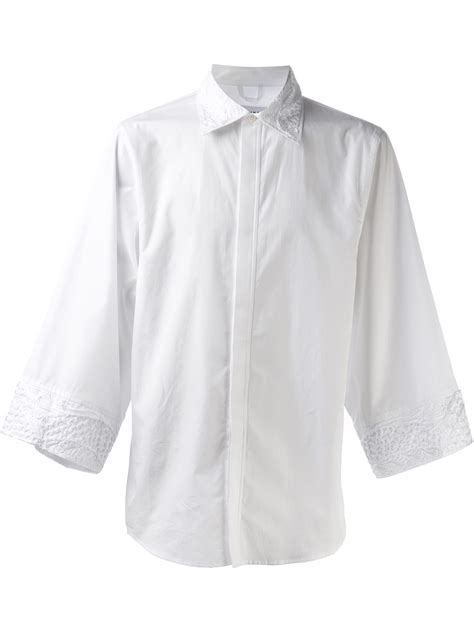 embroidered collar christian dada embroidered collar shirt in white for lyst