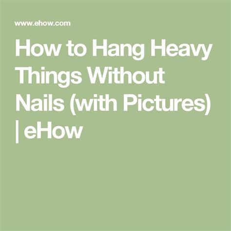 How To Hang Things Without Nails | 17 best ideas about hanging pictures without nails on