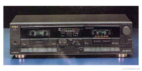 aiwa cassette deck aiwa ad wx707 manual stereo cassette deck