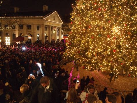 faneuil hall tree lighting packs em in downtown your