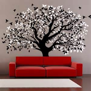 large wall decals for living room living room wall decals big tree by artollo