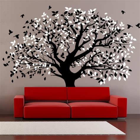 wall stickers for living room living room wall decals big tree by artollo