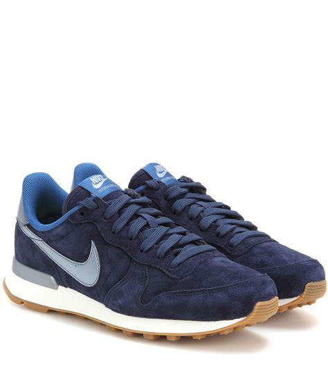 Nike Sneakers nike internationalist suede sneakers in blue lyst