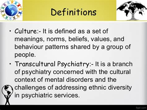 pattern of behaviour synonym social and transcultural psychiatry