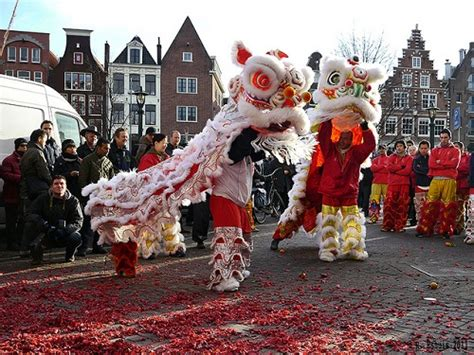 amsterdam new years new year in amsterdam dragons lions and food
