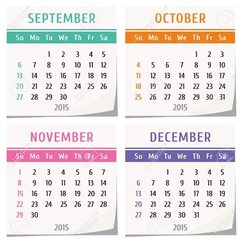 printable calendar august through december 2015 free october november dec 2015 3 months blank calendar