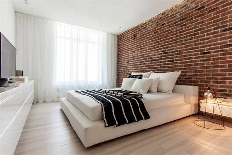 Studio Furniture Ideas by Exposed Brick Bedroom Interior Design Ideas
