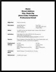 sle of high school student resume exles of resumes for high school students applying to