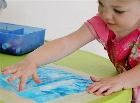 finger painting for toddlers mess free for smiles