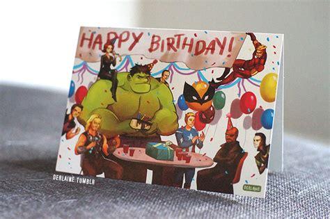 printable birthday cards avengers avengers greeting card happy birthday on storenvy