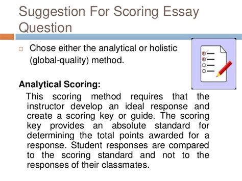 Essay Test Difficulties Met by Difficulties In Scoring Essay Test