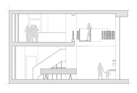 interior section drawing siblingsfactory by jds architects