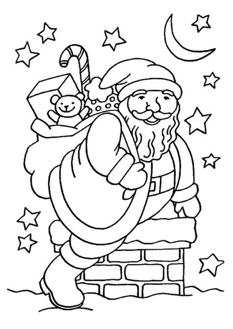 Coloriage père noël Avec Etoile et Lune - Hugolescargot.com