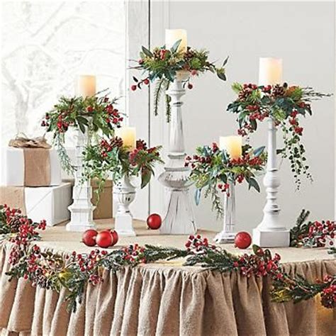 winter candle rings set of five white berry candle rings grandin road