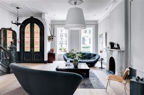 this black and white interior vision is a striking loft in this brownstone is a study in neutrals aphrochic