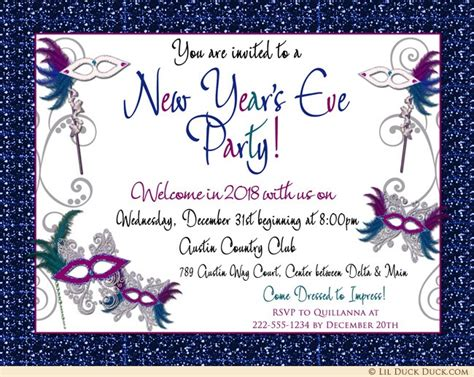 new year 2016 reception activities new years masquerade gala invitation 2018