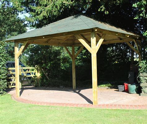 wood gazebo classico timber gazebo 4 3x4 3m