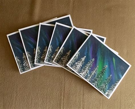 blank cards and envelopes for card northern lights blank note cards with envelopes by